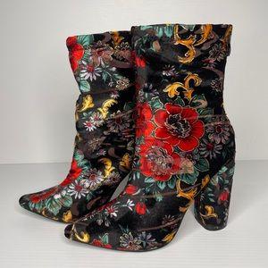 Public Desire Floral ankle boots. Size 6AU